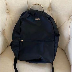 Carolina Herrera Black Satin Backpack